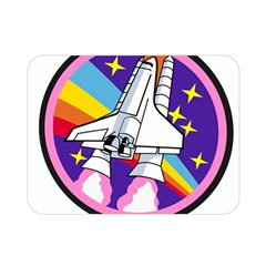 Badge Patch Pink Rainbow Rocket Double Sided Flano Blanket (mini)