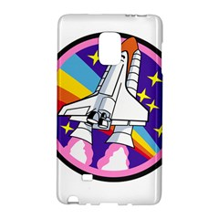 Badge Patch Pink Rainbow Rocket Galaxy Note Edge