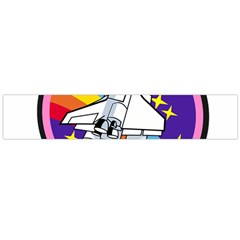 Badge Patch Pink Rainbow Rocket Flano Scarf (large)