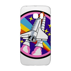 Badge Patch Pink Rainbow Rocket Galaxy S6 Edge