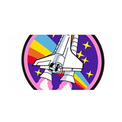 Badge Patch Pink Rainbow Rocket Satin Wrap