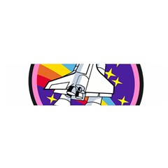 Badge Patch Pink Rainbow Rocket Satin Scarf (oblong)
