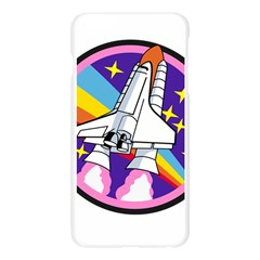 Badge Patch Pink Rainbow Rocket Apple Seamless iPhone 6 Plus/6S Plus Case (Transparent)