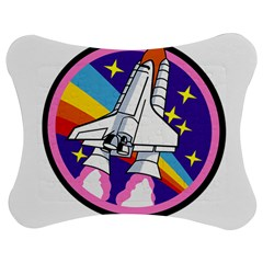 Badge Patch Pink Rainbow Rocket Jigsaw Puzzle Photo Stand (bow)