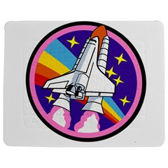 Badge Patch Pink Rainbow Rocket Jigsaw Puzzle Photo Stand (rectangular)
