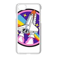 Badge Patch Pink Rainbow Rocket Apple Iphone 7 Seamless Case (white)