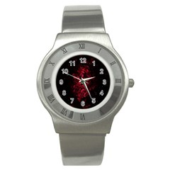 Background Scrapbooking Paper Stainless Steel Watch