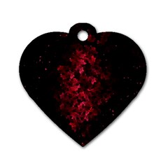 Background Scrapbooking Paper Dog Tag Heart (One Side)