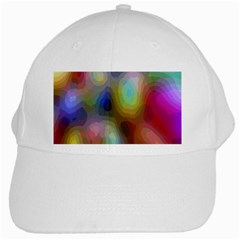 A Mix Of Colors In An Abstract Blend For A Background White Cap
