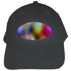A Mix Of Colors In An Abstract Blend For A Background Black Cap