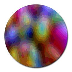 A Mix Of Colors In An Abstract Blend For A Background Round Mousepads