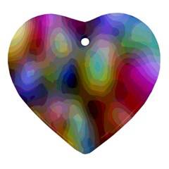 A Mix Of Colors In An Abstract Blend For A Background Ornament (heart)