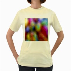A Mix Of Colors In An Abstract Blend For A Background Women s Yellow T-Shirt