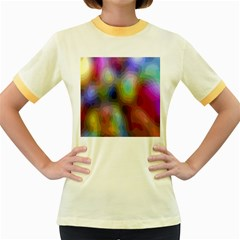 A Mix Of Colors In An Abstract Blend For A Background Women s Fitted Ringer T Shirts