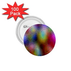 A Mix Of Colors In An Abstract Blend For A Background 1 75  Buttons (100 Pack)