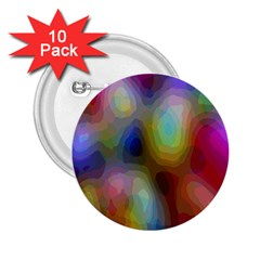 A Mix Of Colors In An Abstract Blend For A Background 2 25  Buttons (10 Pack)