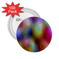 A Mix Of Colors In An Abstract Blend For A Background 2.25  Buttons (100 pack)