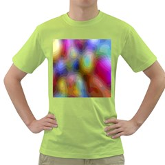 A Mix Of Colors In An Abstract Blend For A Background Green T Shirt