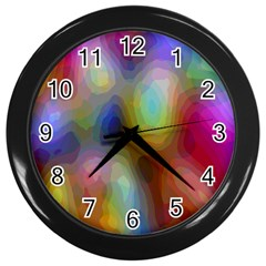A Mix Of Colors In An Abstract Blend For A Background Wall Clocks (Black)