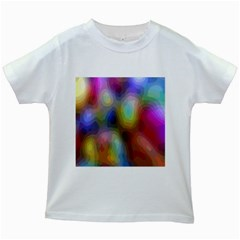 A Mix Of Colors In An Abstract Blend For A Background Kids White T Shirts