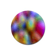 A Mix Of Colors In An Abstract Blend For A Background Magnet 3  (round)
