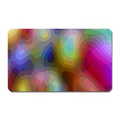 A Mix Of Colors In An Abstract Blend For A Background Magnet (rectangular)