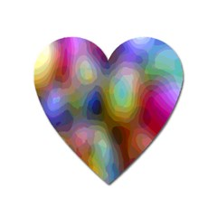 A Mix Of Colors In An Abstract Blend For A Background Heart Magnet