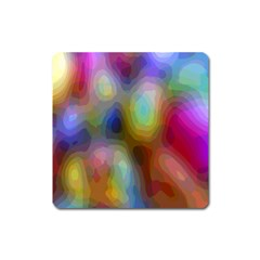 A Mix Of Colors In An Abstract Blend For A Background Square Magnet
