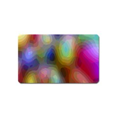 A Mix Of Colors In An Abstract Blend For A Background Magnet (name Card)