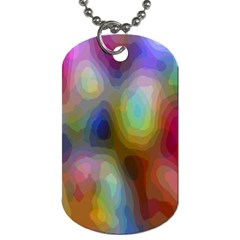 A Mix Of Colors In An Abstract Blend For A Background Dog Tag (one Side)