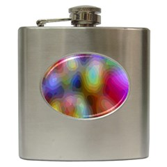 A Mix Of Colors In An Abstract Blend For A Background Hip Flask (6 Oz)