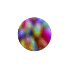 A Mix Of Colors In An Abstract Blend For A Background Golf Ball Marker (4 Pack)