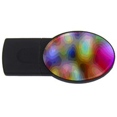 A Mix Of Colors In An Abstract Blend For A Background USB Flash Drive Oval (1 GB)