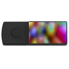 A Mix Of Colors In An Abstract Blend For A Background USB Flash Drive Rectangular (2 GB)