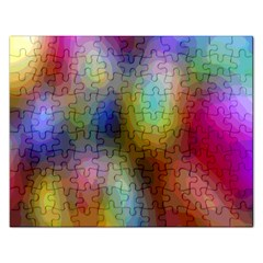 A Mix Of Colors In An Abstract Blend For A Background Rectangular Jigsaw Puzzl