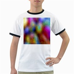 A Mix Of Colors In An Abstract Blend For A Background Ringer T Shirts