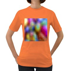 A Mix Of Colors In An Abstract Blend For A Background Women s Dark T Shirt