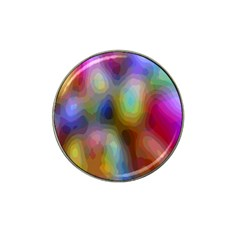A Mix Of Colors In An Abstract Blend For A Background Hat Clip Ball Marker (4 Pack)