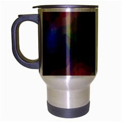 A Mix Of Colors In An Abstract Blend For A Background Travel Mug (silver Gray)