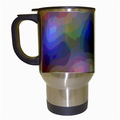 A Mix Of Colors In An Abstract Blend For A Background Travel Mugs (white)