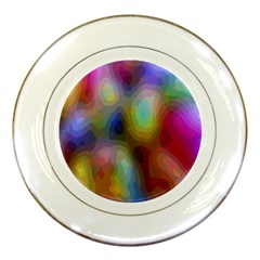 A Mix Of Colors In An Abstract Blend For A Background Porcelain Plates
