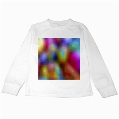 A Mix Of Colors In An Abstract Blend For A Background Kids Long Sleeve T Shirts