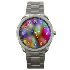 A Mix Of Colors In An Abstract Blend For A Background Sport Metal Watch