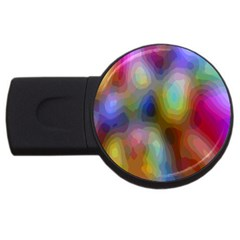 A Mix Of Colors In An Abstract Blend For A Background Usb Flash Drive Round (4 Gb)