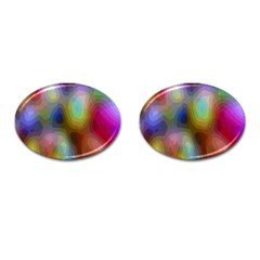 A Mix Of Colors In An Abstract Blend For A Background Cufflinks (oval)