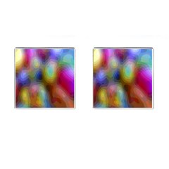 A Mix Of Colors In An Abstract Blend For A Background Cufflinks (Square)