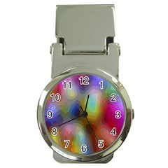 A Mix Of Colors In An Abstract Blend For A Background Money Clip Watches