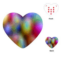 A Mix Of Colors In An Abstract Blend For A Background Playing Cards (heart)