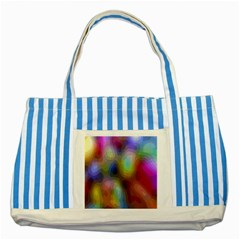 A Mix Of Colors In An Abstract Blend For A Background Striped Blue Tote Bag