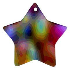 A Mix Of Colors In An Abstract Blend For A Background Star Ornament (two Sides)